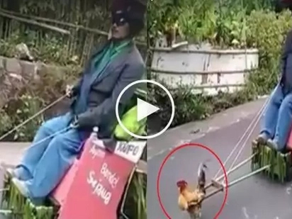 #WalangPuso: This man had his 'cock' pull his cart, what he did is really crazy!