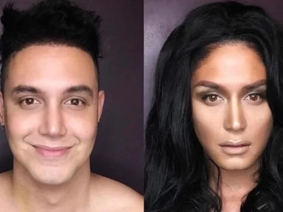 Paolo Ballesteros copies Pia Wurtzbach's look and he looks like a Miss Universe winner!