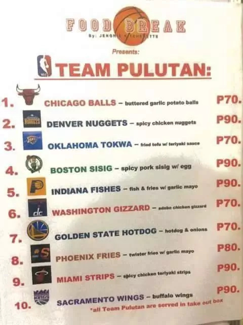 Bar serves food based on NBA teams and Pinoys suggest additions in the menu