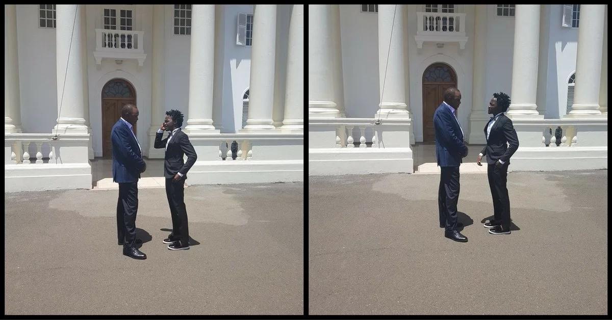 Is Bahati being disrespectful around Uhuru?