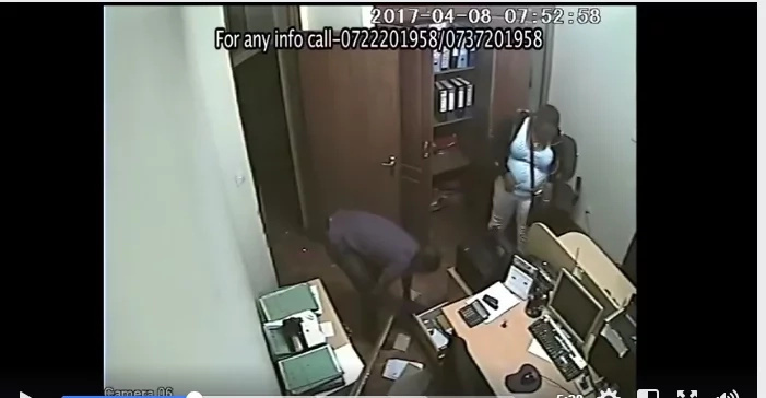 Heavily pregnant woman among gang caught on camera stealing at a media association office