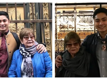 Ang sweet na apo! Coco Martin takes his grandmother to Italy