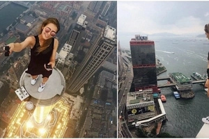 This crazy Russian girl stunning on top of skyscrapers is the most beautiful daredevil in the world!