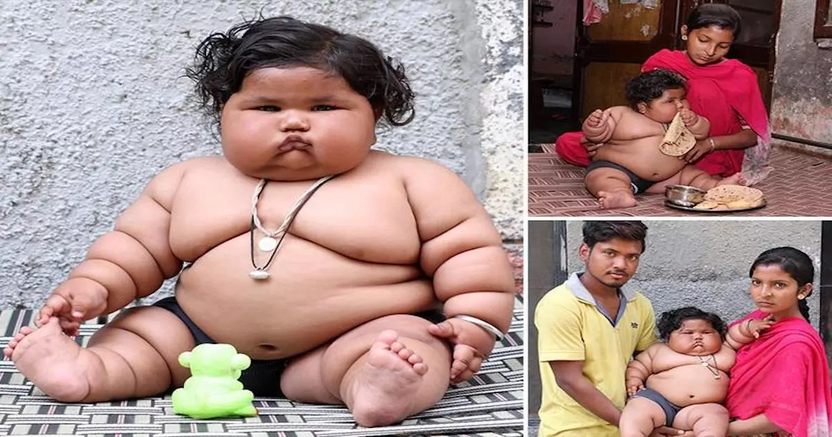 Insatiable appetite! Doctors baffled by 8-month-old obese baby who weighs 17kg (photos, video)