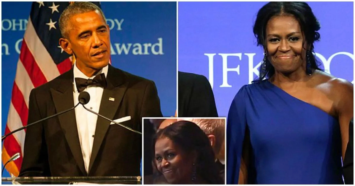 See how Obama thanks Michelle for sticking by him after the presidency in emotional tribute (photos, video)