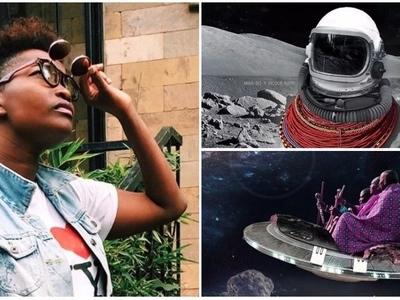 The future is here! Kenyan artist, 26, portrays the Maasai in space in this amazing futuristic project