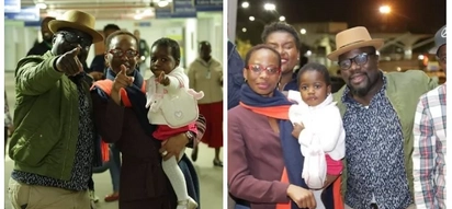 Musician Gidi Gidi's adorable firstborn daughter lands in Kenya, 3 years after being born in France