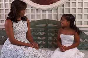 Michelle Obama gives this small CHEF some GREAT culinary advice