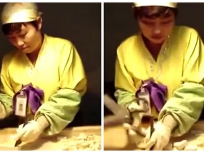Find out why this Korean candy cutter on the job went viral!