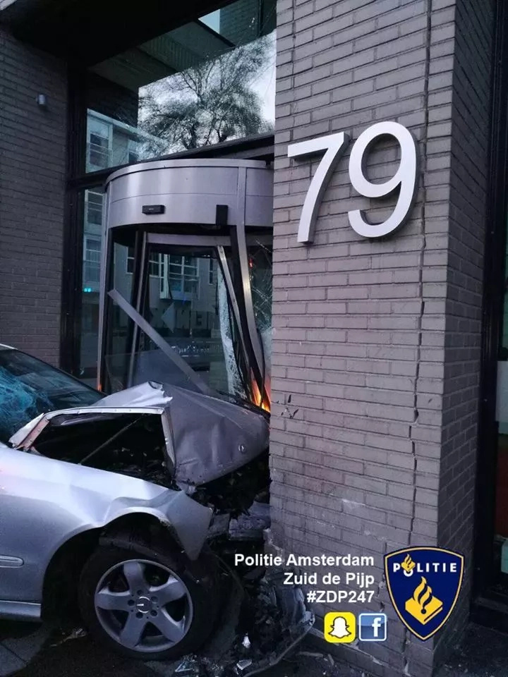 Drunk driver crashed into Heineken office building, beer company responded with an ironic message