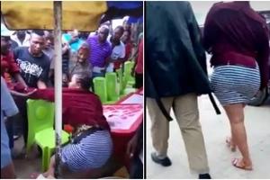Mwanamke aliyevaa 'visivyo' anusurika kuvuliwa nguo hadharani (Video)