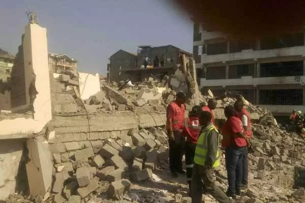 Five storey building collapses in Karobangi South