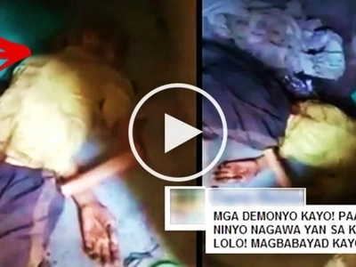 This blind old Pinoy in Laguna was left behind by his wife & children in a dirty house with no water & electricity! Watch the heartbreaking video!