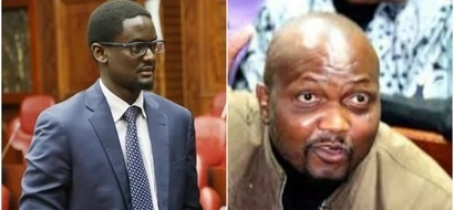 Moses Kuria's pleasant surprise to Kalonzo's son