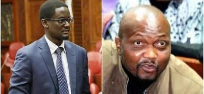 Moses Kuria's pleasant surprise to Kalonzo's son