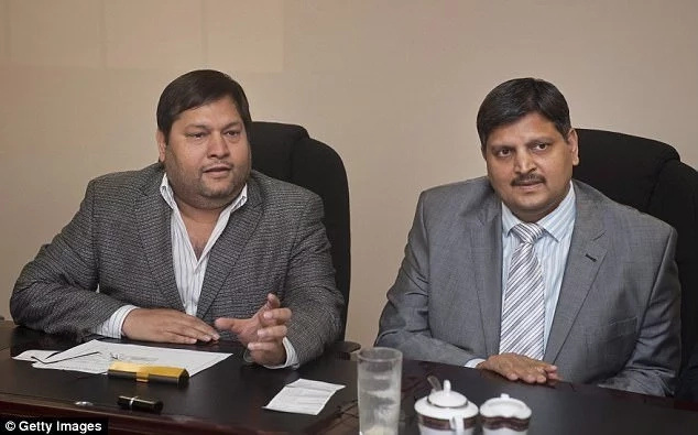 Two of the three Indian brothers, Atul and Ajay Gupta