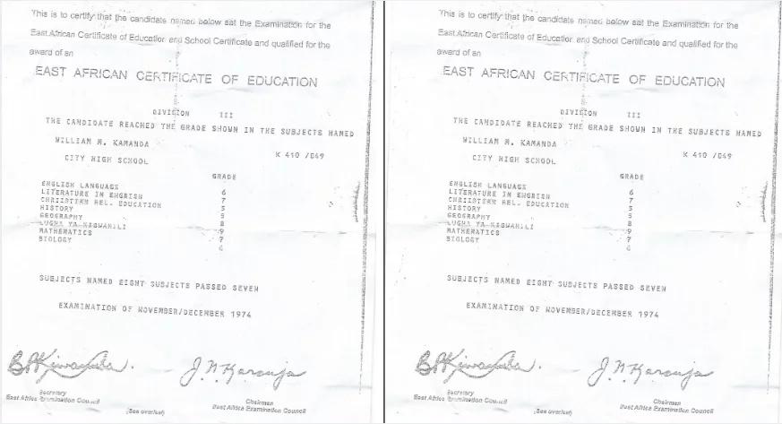 kamanda fake papers