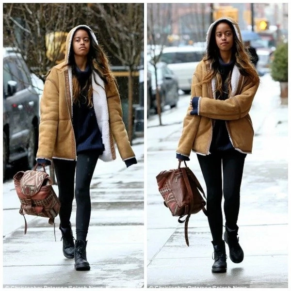 Stylish Malia Obama seen wearing $798 favorite coat (photos)