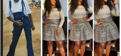 Curvy actress Catherine Kamau shares a photo of what she used to do before plunging into acting