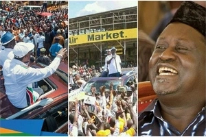 Raila sends Meru residents a message minutes after completing his campaigns