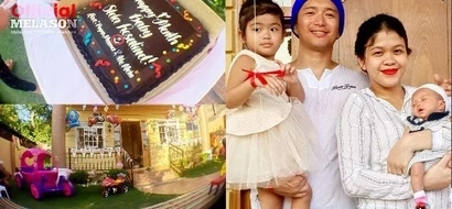 Baby Stela Rosalind Francisco spends her first month at their lavish house in Mindoro