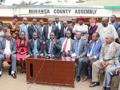 Blows and kicks play out in Murang'a county Assembly barely 10 days after bloody fight