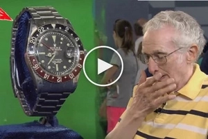 This poor guy didn't realize the immense value of his old Rolex watch until he brought it to this antique show! Guess how much!