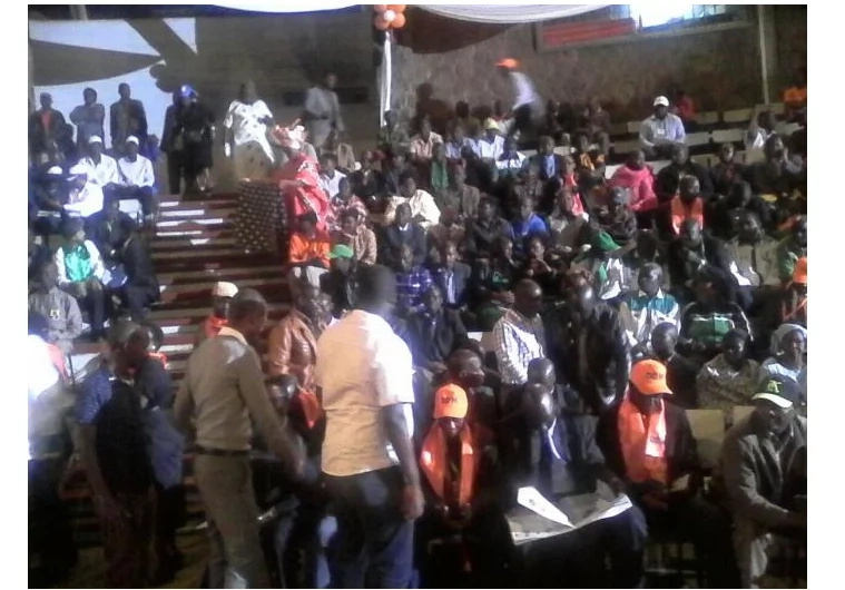 Youth attempt to chaos at the CORD rally at Bomas of Kenya