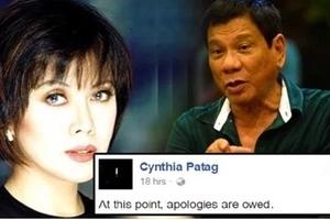 Cynthia Patag apologizes for 'failed gamble' in Duterte-Robredo tandem