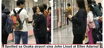 Honeymoon na ba ito? John Lloyd Cruz, Ellen Adarna spotted in Osaka airport amid rumored secret wedding