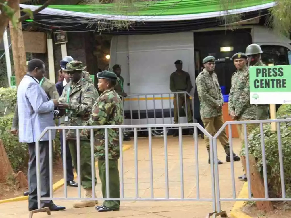 Preparations underway at Bomas as IEBC set to announce presidential winner (photos)