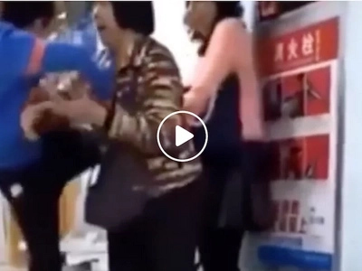 Spoiled Chinese brat violently kicks mom in hospital for telling him to stop playing games