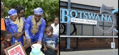 Luo man pours money to congratulate Botswana on Golden Jubilee celebrations