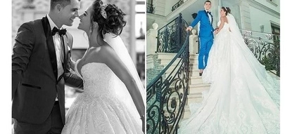 Arsenal star Granit Xhaka weds stunning fianceé in grand style (photos)