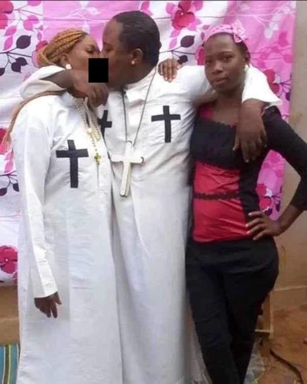 Tanzania's self-styled prophet pictured with alcohol kissing wife and house girl rushed to hospital