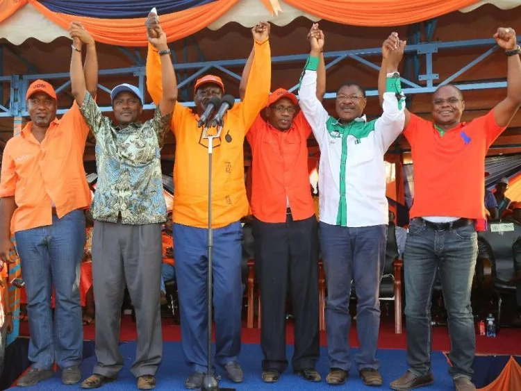 Raila gives the clearest hint yet, that ODM has broken off from CORD