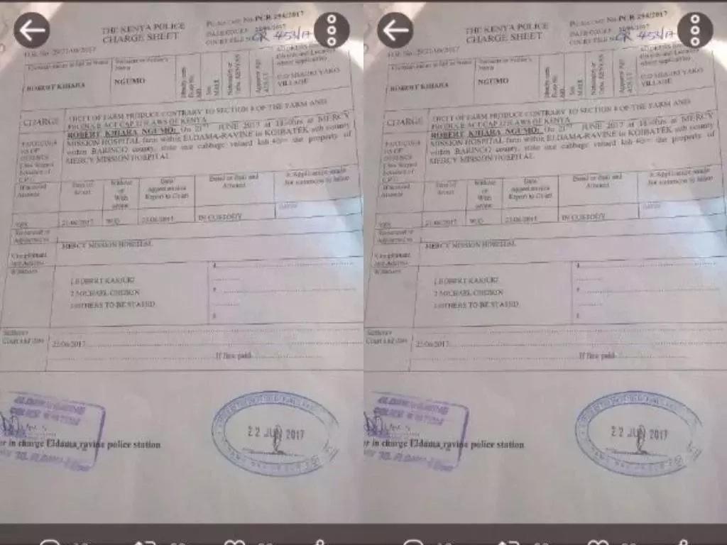 Mwanamume aliyekuwa na njaa akamatwa kwa kuiba mboga!