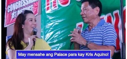 """Sumagot ang Malacañang sa viral post ni Kris Aquino ukol kay Pangulong Duterte: """"Welcome on board"""""""