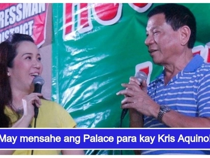 "Sumagot ang Malacañang sa viral post ni Kris Aquino ukol kay Pangulong Duterte: ""Welcome on board"""