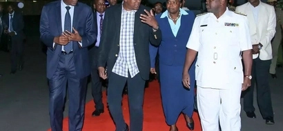Uhuru Returns From Four Day Visit To India