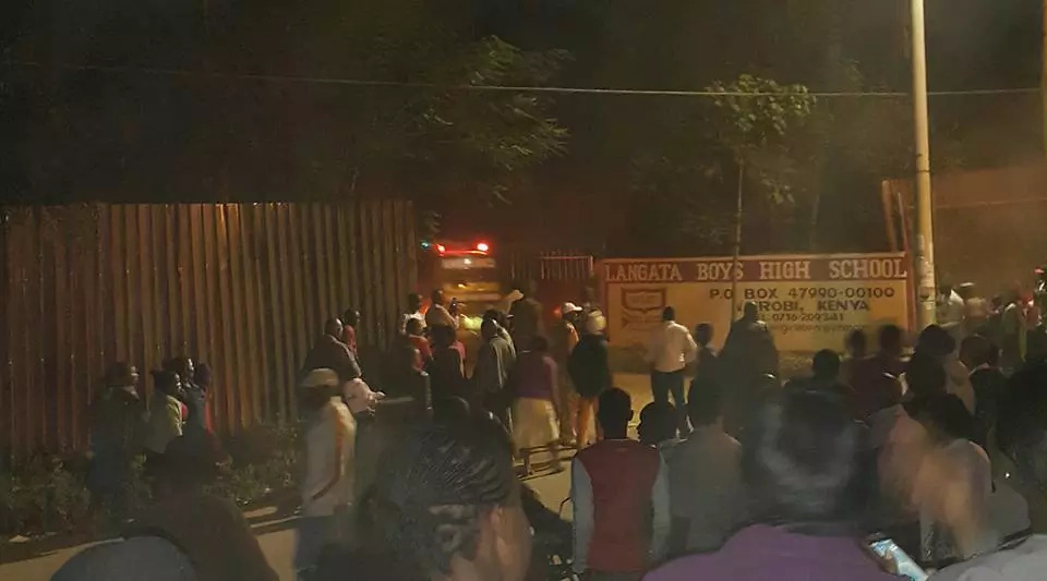 Breaking! Langata High School, Ruiga Girls on fire (Photos, Video)