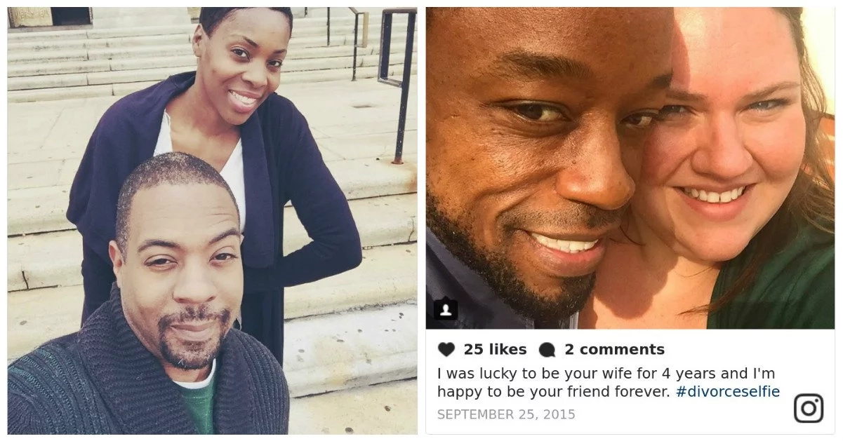 EERIE trend! Divorced couples now happily posting selfies on on social media (photos)