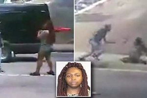 Woman attacks man with VACUUM CLEANER in bizarre road rage incident (photos, video)