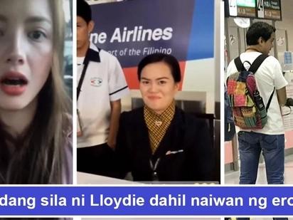 Naiwan daw sila ng eroplano! Ellen Adarna tries to sweet-talk PAL's staff as she and John Lloyd fail to catch their flight