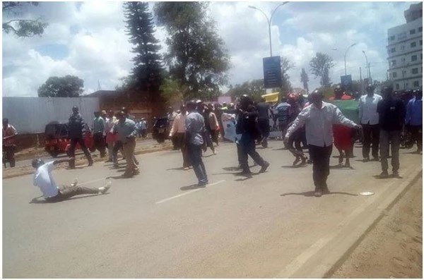 Chaos in Thika as rival supporters rally against Kabogo