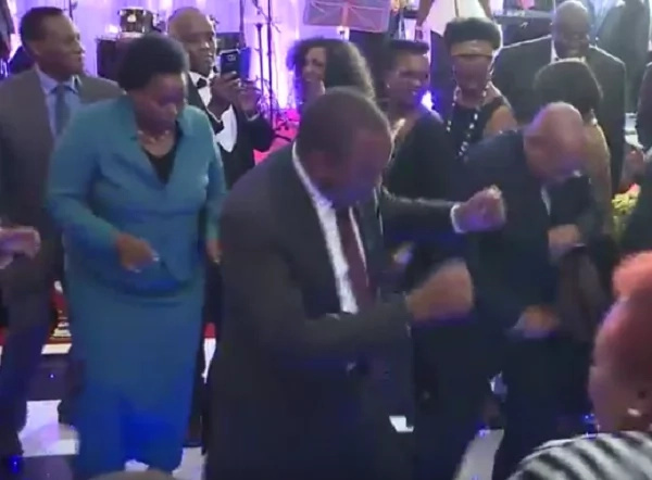 President Uhuru Jackie Maribe Dennis Itumbi and other government official dance in state house