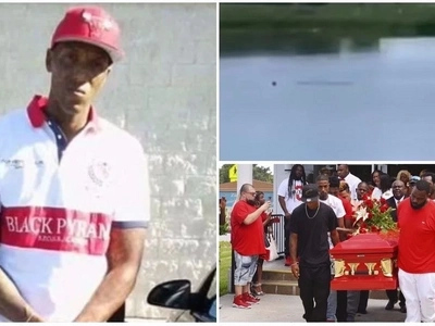 Hundreds attend funeral of disabled man who drowned as teenagers recorded his death