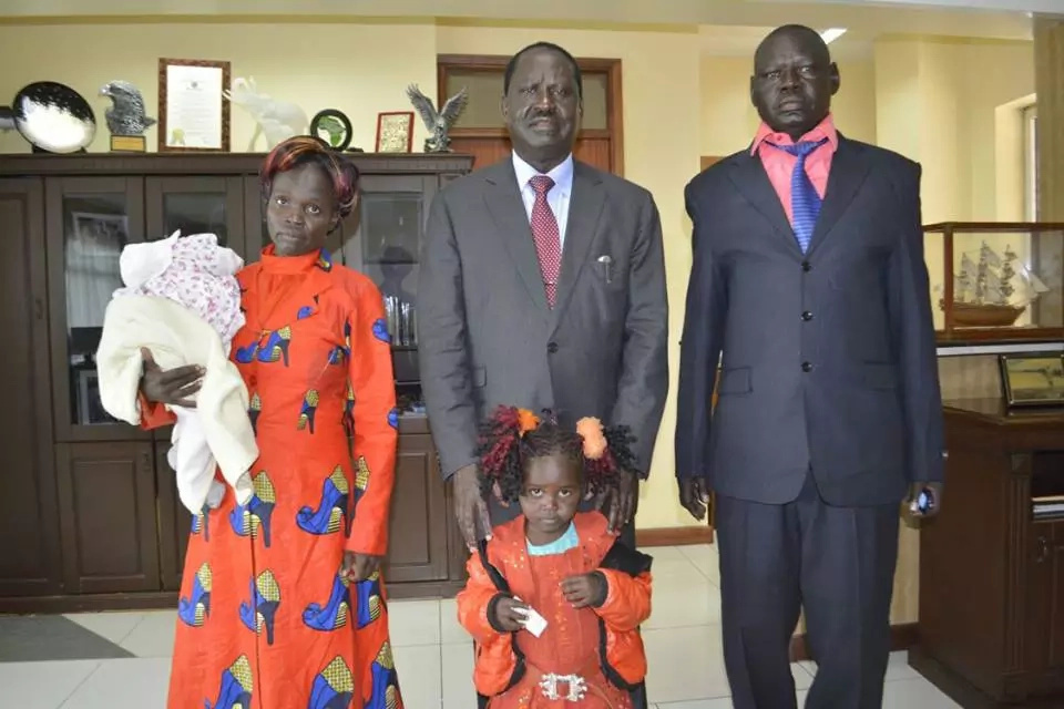 Raila Odinga attacked after hosting a Lodwar Family in his office