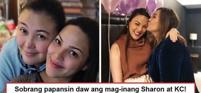 KSP daw kasi silang mag-ina! Sharon Cuneta and KC Concepcion experience growing animosity from netizens for their 'puro emote' posts