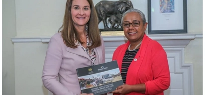 First Lady Margaret Kenyatta meets global billionaire's wife Melinda Gates